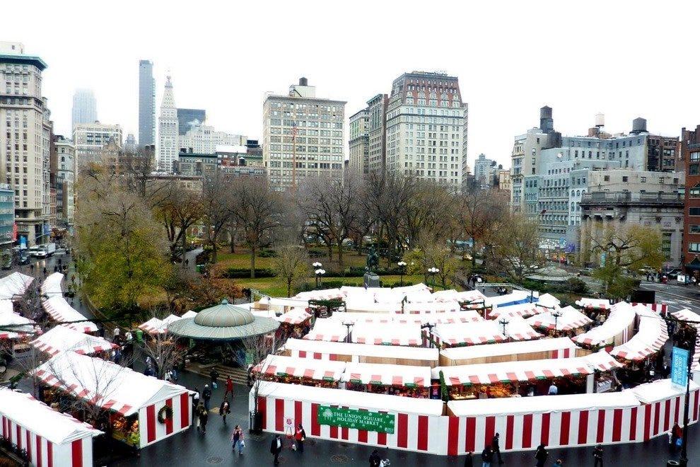 Mercados de vacaciones de Union Square