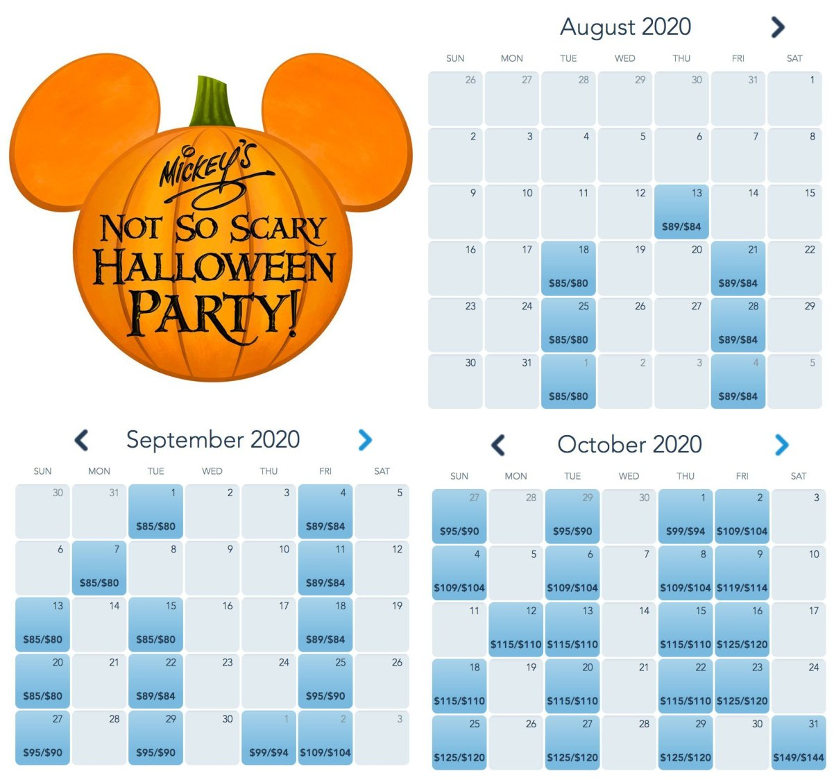 Boletos ya a la venta para la fiesta de Halloween Mickey's Not So Scary 2020 3