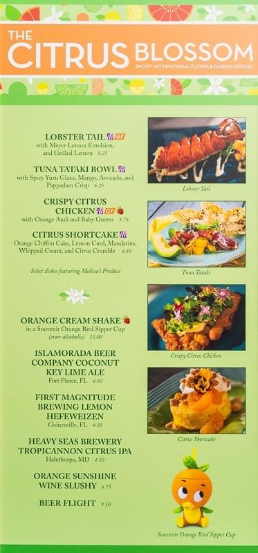 Citrus Blossom Menu & Food Review: Epcot Flower & Garden Festival 3